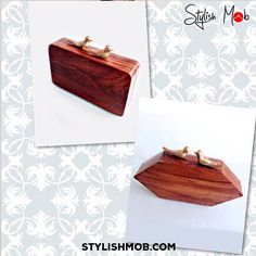 Birds of a feather flock together!!!! Transition between a day or night look with these uber chic clutches by Bhavna Kumar for women on the go. Available on stylishmob.com #stylishmob #onlineshopping  #global #worldwideshipping #fashionheaven #indiandesigner #bhavnakumar #handcraftedinindia #wood #clutch #fashionatitsbest #dayornight #brunch #cocktails #womenonthego #ethereal #regal #tradition #decadent #chic #comtemporary #ethnic #bohochic #vogue #instafashion #instaglam #instastyle #potd…