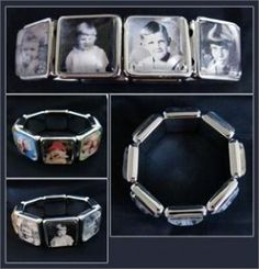 It's from Photo jewelry making kit. Need to find this and try it. LOVE it! So many ideas! Grandchild bracelet, memory bracelet, anniversary bracelet . . . .