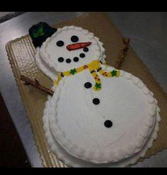 Snowman cake.