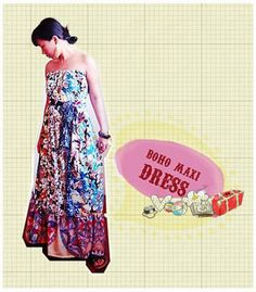 don't quite understand the tutorial, but I'll try it.... DIY Boho Maxi dress