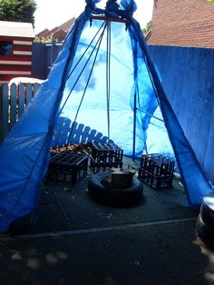 Great outdoor talking space Sleaford Day Nursery