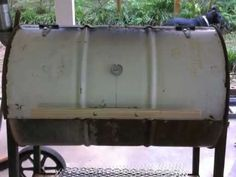 Grill from 55 gal drum / no welding - YouTube