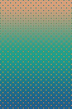 Polka Plankton Blue Art Print by Bright Enough / Interesting visual illusion by colours