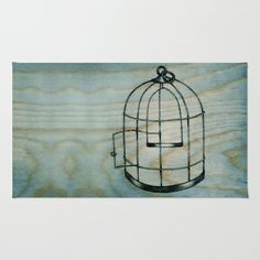 Bird Cage Area & Throw Rug by BrittanyElyse - $28.00