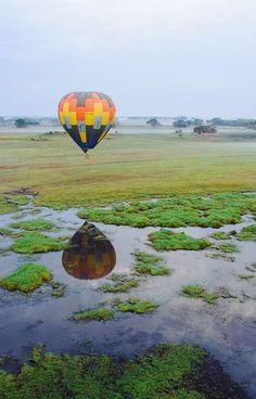 Kafue is the largest national park in Zambia, Africa. There is no better way than to see it by air. Take a hot air balloon ride and see its endless beauty for yourself. Timbuktu Travel.