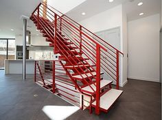 The homeowners of this New Jersey home for sale decided to make their modern staircase ...
