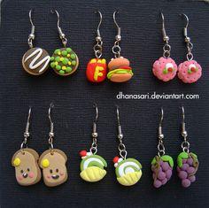 Some more cute clay earrings!