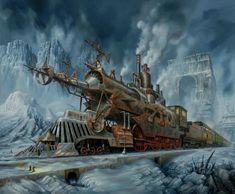 Steampunk Tendencies | Jarosław Jaśnikowski. Could be another Engine of the Line.