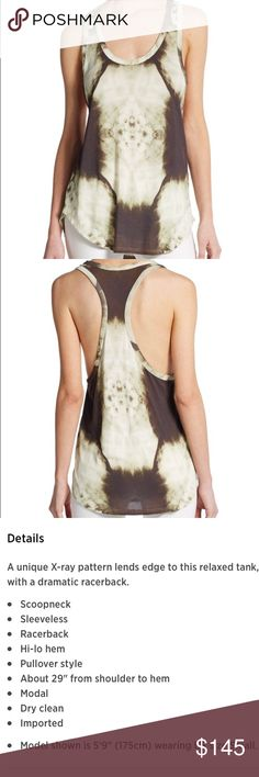 NIB NWT Haute Hippie X Ray Boyfriend Tank!!! 💋💋 Absolutely stunning and I love anatomy and everything to do with science & the human body!! Mixed with this brand is an extraordinary delight!!! 💀💀💀💋💋💋 Haute Hippie Tops Tank Tops