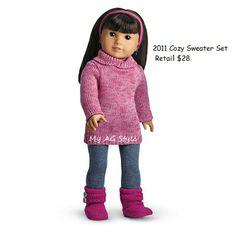 American Girl Doll 2011 Cozy Sweater Set