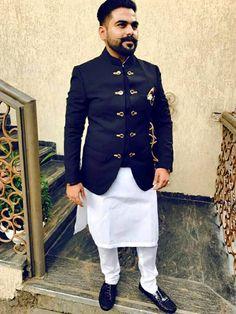 client with blue bandhgala jodhpuri suit - Jodhpuri suits for men - Mens Wedding Wear Indian, Mens Indian Wear, Wedding Dresses Men Indian, Mens Ethnic Wear, Indian Groom Wear, Wedding Dress Men, Indian Men Fashion, Mens Fashion Suits, Kurta Pajama Men
