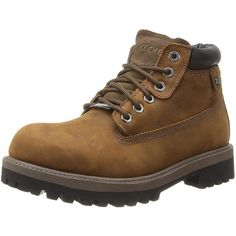 Skechers USA Men's Verdict Waterproof Boot ($54) ❤ liked on Polyvore featuring men's fashion, men's shoes, men's boots, mens wide boots, skechers mens boots, skechers mens shoes, mens boots and mens waterproof boots