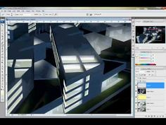 Sketchup night rendering tutorial using Photoshop Photoshop Youtube, Photoshop Tutorial, School Architecture, Interior Architecture, Rendering Techniques, Night Illustration, Image 3d, 3d Tutorial, 3d Max