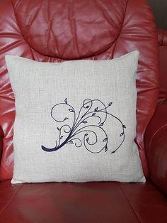 Deko Kissenbezug Stilisiert Modern, Bed Pillows, Pillow Cases, Environment, Decorative Pillow Covers, Unique Gifts, Linen Fabric, Threading, Pillows