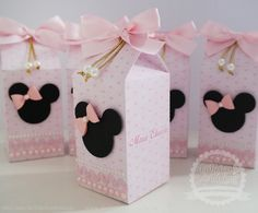 Milk Box Minnie Rosa Luxo [2] | FÁBRICA DE IDÉIAS - Produtos personalizados | Elo7