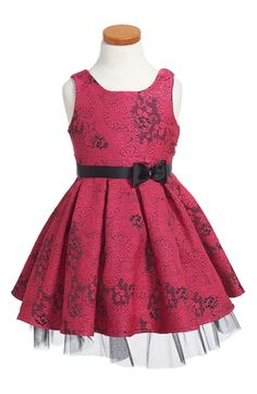 Le Pink Sleeveless Brocade Dress (Toddler Girls & Little Girls) available at #Nordstrom