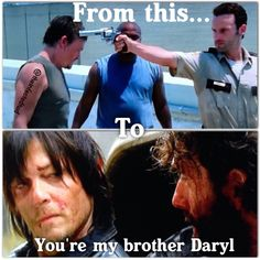 Rick Grimes and Daryl Dixon have come a long way! The Walking Dead Zombies The Walking Dead, Walking Dead Funny, Walking Dead Tv Series, Fear The Walking Dead, Z Nation, Alan Walker, Rick Grimes, Best Tv Shows, Best Shows Ever
