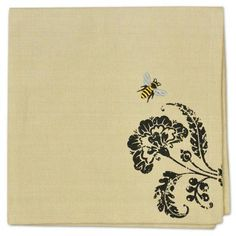 Busy Bee Embroidered Napkin Set of 4