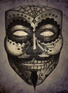 Dia De Los Guy Fawkes by TJSGrimm