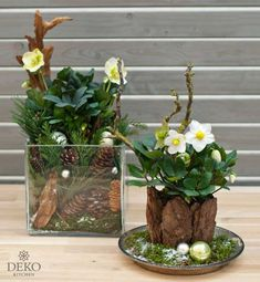 DIY: Christrosen effektvoll dekorieren DIY: Christrosen effektvoll in Szene setzen Deko-Kitchen Christmas Flowers, Christmas Wreaths, Christmas Crafts, Christmas Decorations, Decor Crafts, Diy And Crafts, Navidad Diy, Deco Floral, Theme Noel