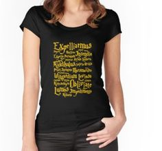 d8218b95 Expecto Patronum T-Shirt Accio Wingardium Leviosa Tshirt Expelliarmus Funny Quote  Shirt HP Fan Tee. '