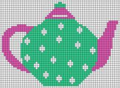 Alpha friendship bracelet pattern added by miszelinka. Cross Stitch Geometric, Cross Stitch Owl, Cross Stitch House, Cross Stitch Kitchen, Counted Cross Stitch Patterns, Cross Stitching, Cross Stitch Embroidery, Swedish Embroidery, Cross Stitch Collection