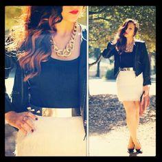 Beige skirt (IG @msktreed)