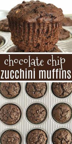 Chocolate Zucchini Muffins Chocolate Zucchini Muffins Are Loaded With Chocolate, Chocolate Chips And Plenty Of Zucchini Shredded Zucchini Makes These Chocolate Muffins So Moist And Crazy Delicious. Muffins Zucchini, Muffins Blueberry, Zucchini Desserts, Zucchini Chocolate Chip Muffins, Zucchini Bread Recipes, Chocolate Zucchini Brownies, Healthy Chocolate Muffins, Zucchini Cookies, Cake