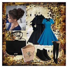 """."" by genesissuarez on Polyvore featuring moda y Music Notes"