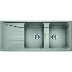 CHIUVETA DE BUCATARIE BLANCO SONA 8 S SILGRANIT GRI PERLAT REVERSIBILA INCORPORABILA - Iak Tray, Kitchen, Cooking, Kitchens, Trays, Cuisine, Cucina, Board