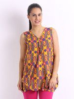 Anouk Casual Sleeveless Printed Women's Top - Buy Yellow Anouk Casual Sleeveless Printed Women's Top Online at Best Prices in India | Flipkart.com