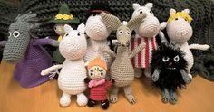 Moomin Moomin, Crochet Baby, Knit Crochet, Crochet Fashion, Textile Art, Teddy Bear, Textiles, Blanket, Christmas Ornaments