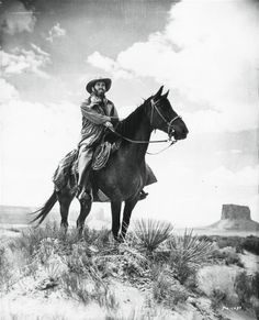 MY DARLING CLEMENTINE (1946) - Henry Fonda on horseback in Monument Valley - Directed by John Ford - 20th Century-Fox - Publicity Still.