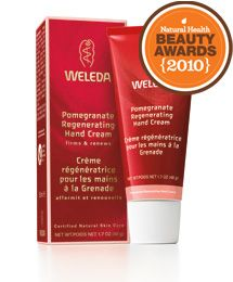 Weleda Pomegranate Regenerating Hand Cream is an absolute essential. Hand washing is frequent with a baby, so keeping mommy's hands moisturized with minimal chemicals is important.