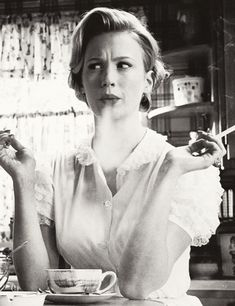 January Jones in 'Mad Men'.