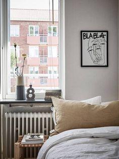 Small studio space in a warm color palette - via Coco Lapine Design blog
