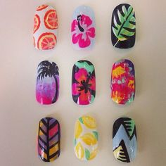 Island luai Nail Art Stiletto nails