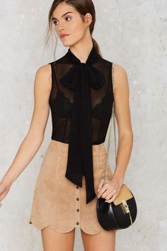 Nasty Gal Set You Free Pussybow Blouse - Black - Best Sellers | Back In Stock | Blouses | Tops | Tops