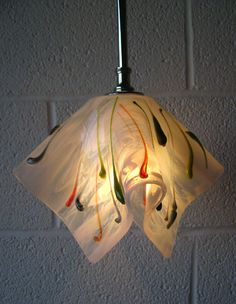 Poppy Motif Pendant Light | Designer Glass Mosaics | Designer Glass Mosaics