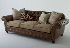L9701 Chesterfield Sofa –Offering a new twist on classic style, Massoud's Chesterfield sofa can bring a touch of warmth and style to today's home.  Hand-tufted leather in rich echo umber provides the perfect backdrop for wonderful flannel, traditional plaid seat cushions (available in several cushion options) and an array of accent pillows in complementary patterns and tones.  #hpmkt. 310 North Hamilton  Building, showroom 104. www.massoudfurniture.com