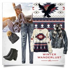 """Winter Wanderlust with American Eagle: Contest Entry 2"" by rose-99 ❤ liked on Polyvore featuring American Eagle Outfitters"