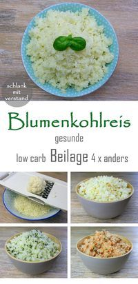 low carb Blumenkohlreis – Low carb Rezepte – schlankmitverstand low carb cauliflower rice – Low carb recipes – slim mean Food Low Carb Diet, Paleo Diet, Calorie Diet, High Protein Low Carb, Vegan Keto, Raw Vegan, Menu Dieta Paleo, Paleo Recipes, Low Carb Recipes