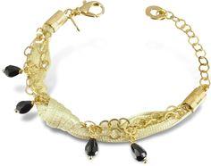 Daco Milano Onyx Drops Multi-strand Sterling Silver Lace Bracelet on shopstyle.com