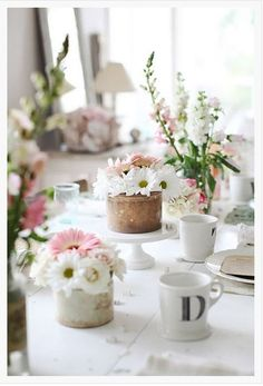 Classic Spring table settings
