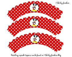 Free Mickey Mouse cupcake wrapper printable