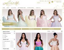 Online fashion shop website design for LJ Couture
