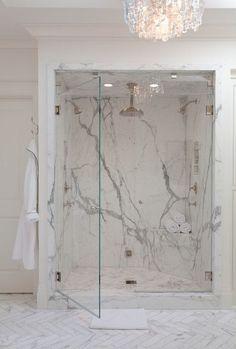 27 Exquisite Marble Bathroom Design Ideas #marblebathrooms