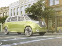 Partly a nostalgic revival of the Type-2 Microbus and partly an optimistic look at VW's electric, autonomous future, the Volkswagen ID Buzz concept is totally rad.