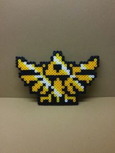 Triforce The Legend of Zelda perler beads by EternallCrafts