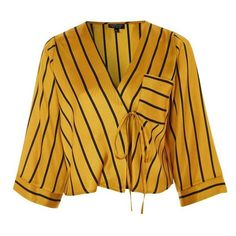 eae15b314c1db9 Women s Topshop Stripe Tie Wrap Kimono Top ( 65) ❤ liked on Polyvore  featuring self